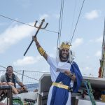 Clipper Race Crew Face Court of King Neptune